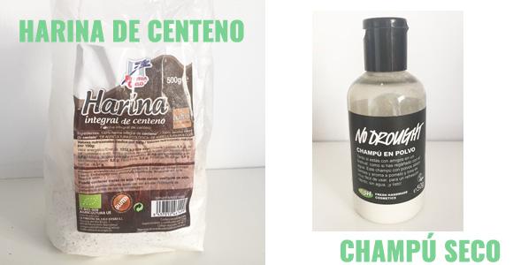 Harina de Centeno y Champú Seco